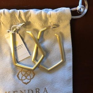 NWT Kendra Scott Gold Lonnie Geometric Hoops